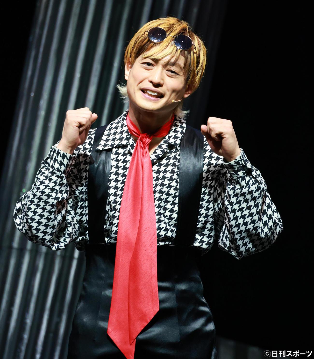 舞台「Mogut」開幕直前取材で思いを語る塚田僚一(撮影・中島郁夫)