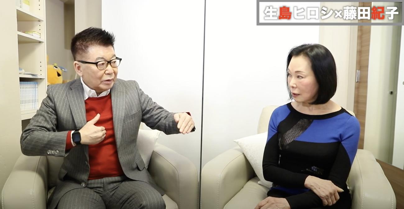 生島ヒロシ(左)は藤田紀子に息子の元横綱貴乃花との絶縁について問いただす