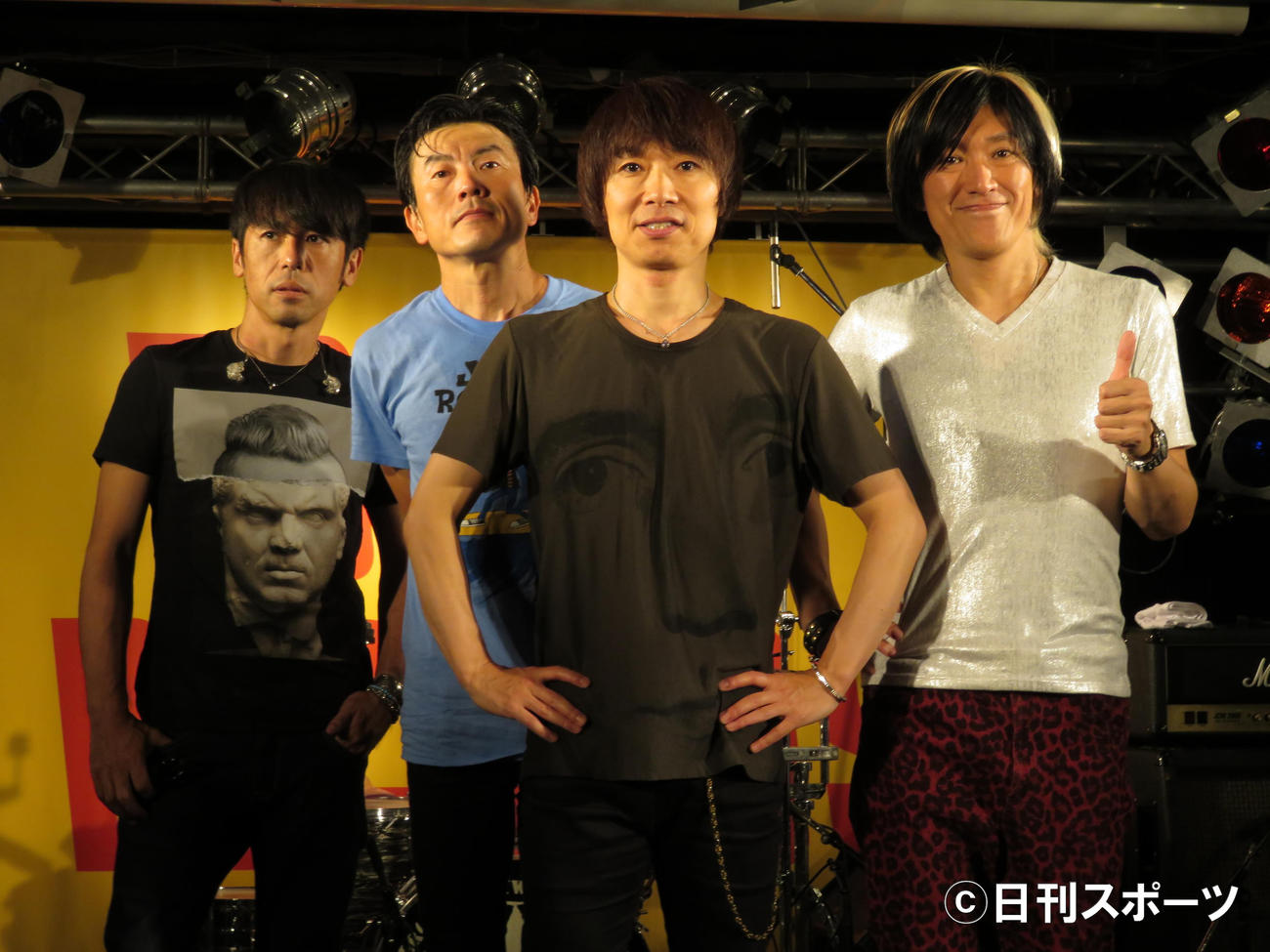 JUN SKY WALKER(S)左から寺岡呼人、小林雅之、宮田和弥、森純太(2016年9月7日)