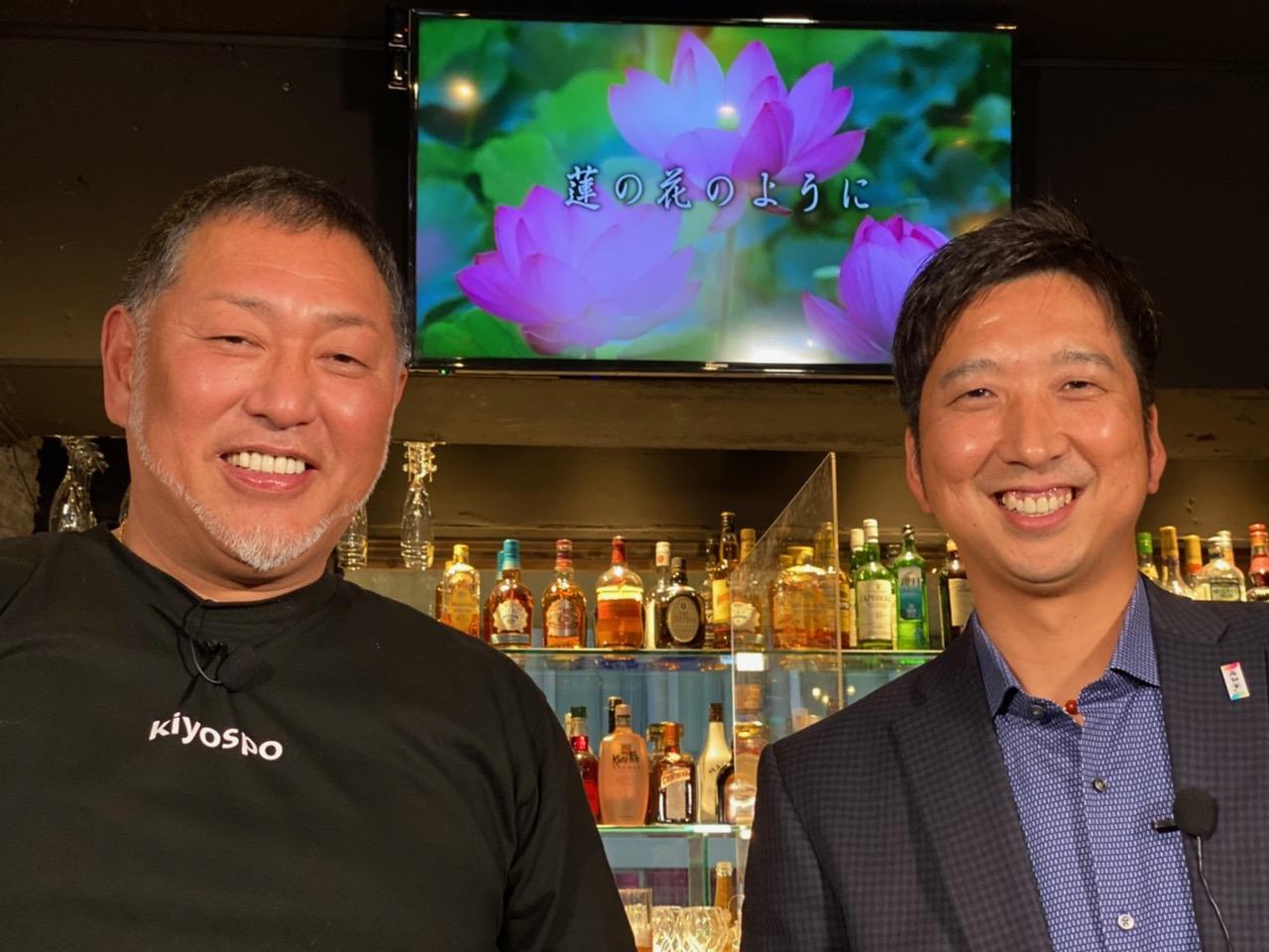 清原和博氏(左)のYouTubeチャンネルに出演した藤川球児氏