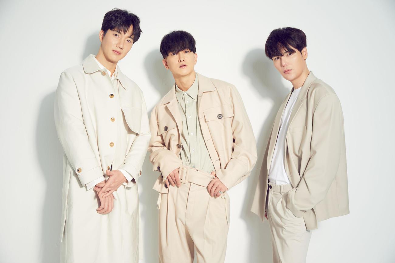 新曲「I LOVE U」の配信が決まったFunky Galaxy。左からゴニル、グァンス、ジヒョク