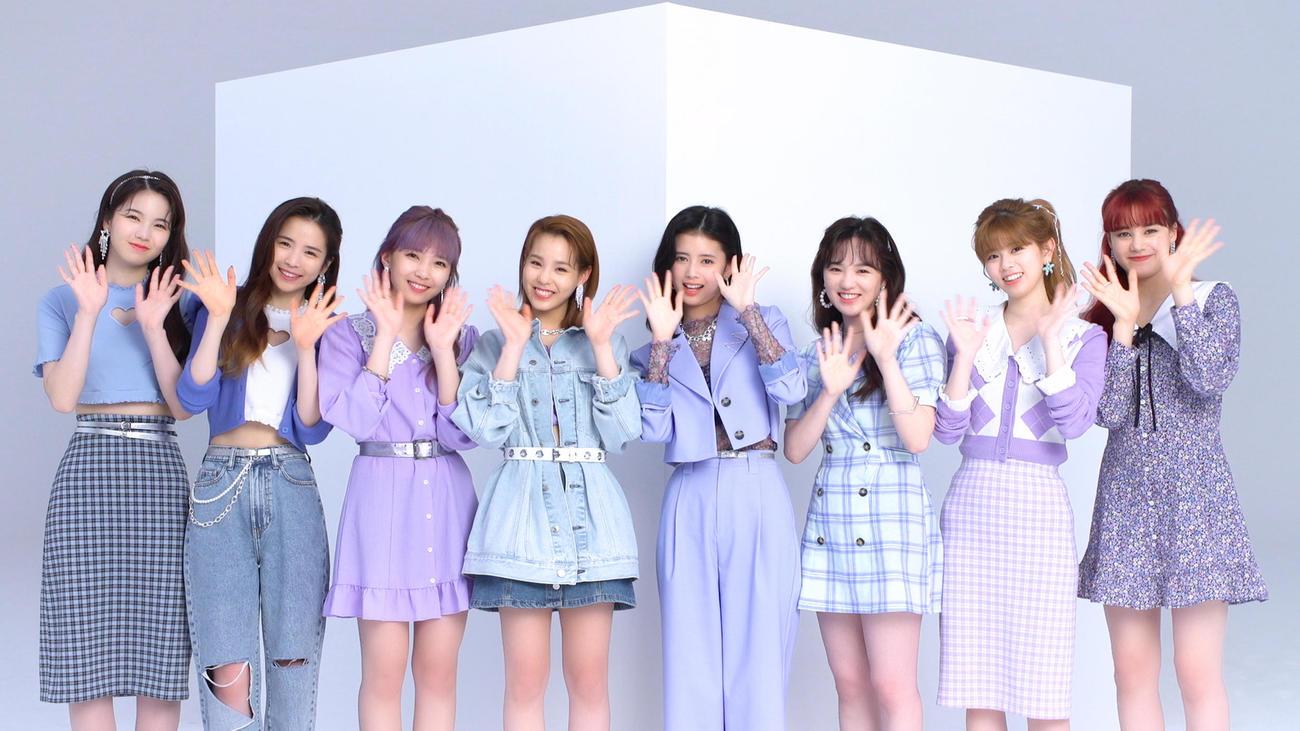 スペシャル動画が公開されたNiziU、左からAYAKA、MAYA、MAYUKA、MAKO、RIMA、RIO、RIKU、NINA