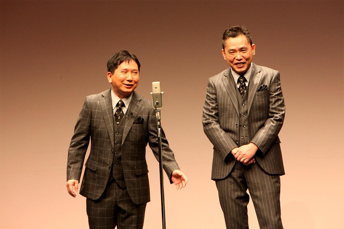 爆笑問題田中裕二(左)と相方の太田光