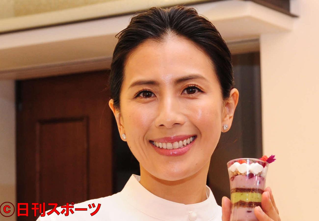 長谷川理恵(2018年4月23日撮影)