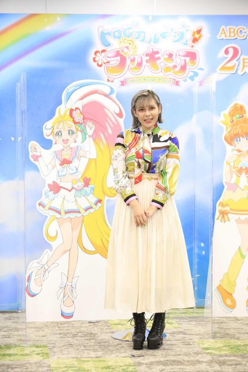 テレビ朝日系アニメ「トロピカル~ジュ!プリキュア」のお披露目会見に出席したファイルーズあい