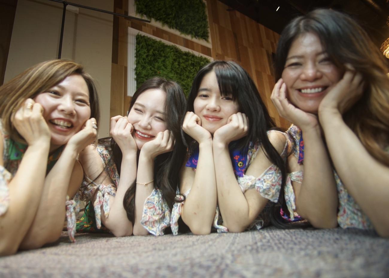 「ゆいがーる」の、左からSHOKO、AYANE、COCONA、MIZUNO