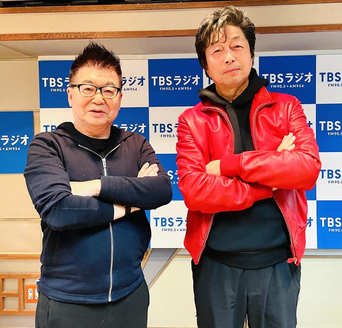 「風化させてはいけない!」と10年たった東日本大震災について熱く語ると生島ヒロシ(左)と中村雅俊