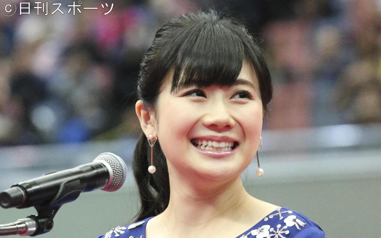 福原愛さん(2019年1月19日撮影)