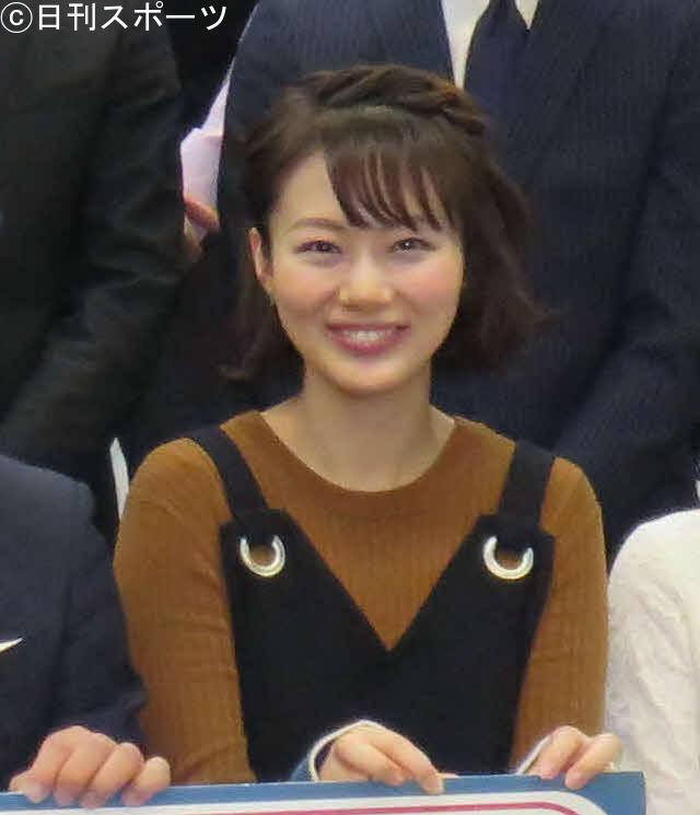 第1子の妊娠と、担当番組「よ~いドン!」の卒業を発表した高橋真理恵アナウンサー(2018年1月30日撮影)