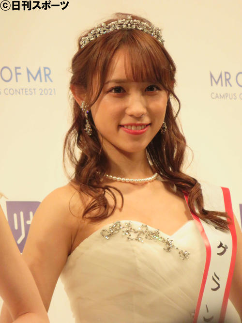 「MISS OF MISS CAMPUS QUEEN CONTEST 2021 supported by リゼクリニック」で準グランプリを受賞した山本瑠香さん(撮影・三須佳夏)