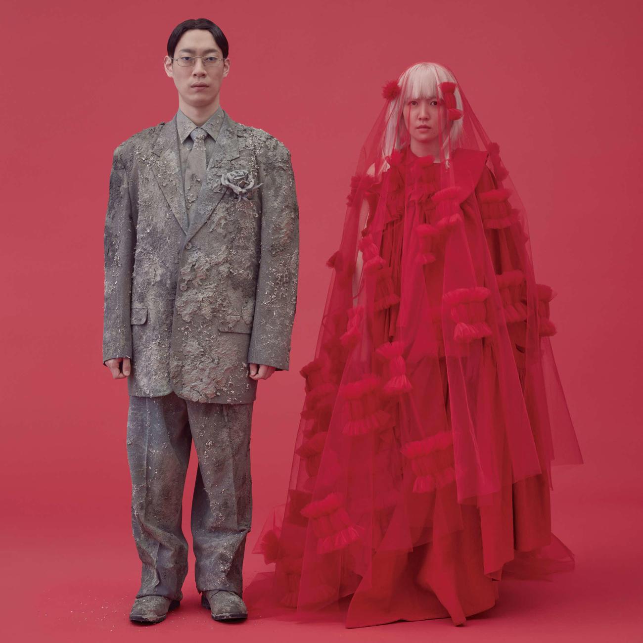 坂東巳之助とシム・ウンギョンが共演するミュージカル「消えちゃう病とタイムバンカー」の解禁ビジュアル