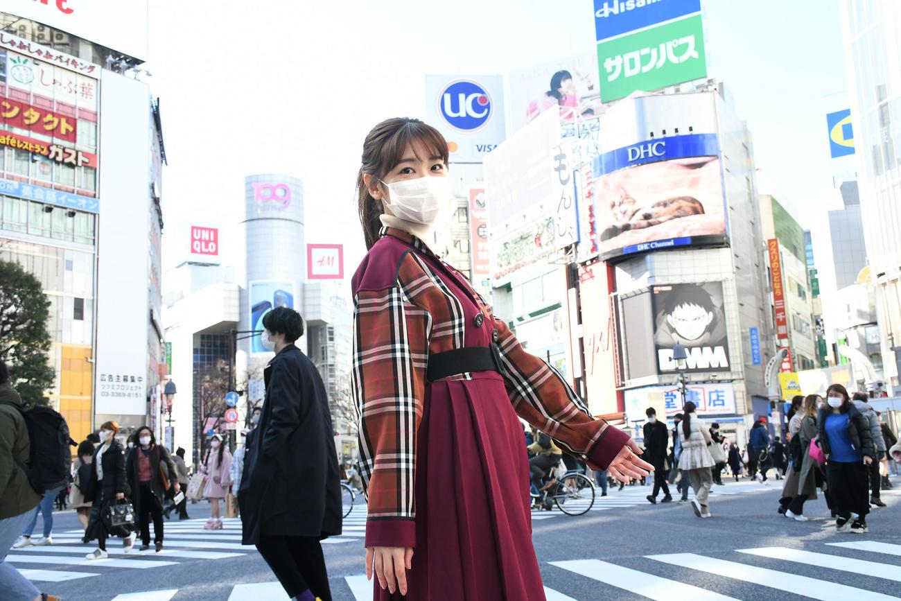 7年5カ月ぶりのソロシングル「CAN YOU WALK WITH ME??」の発売日に渋谷を歩くAKB48柏木由紀