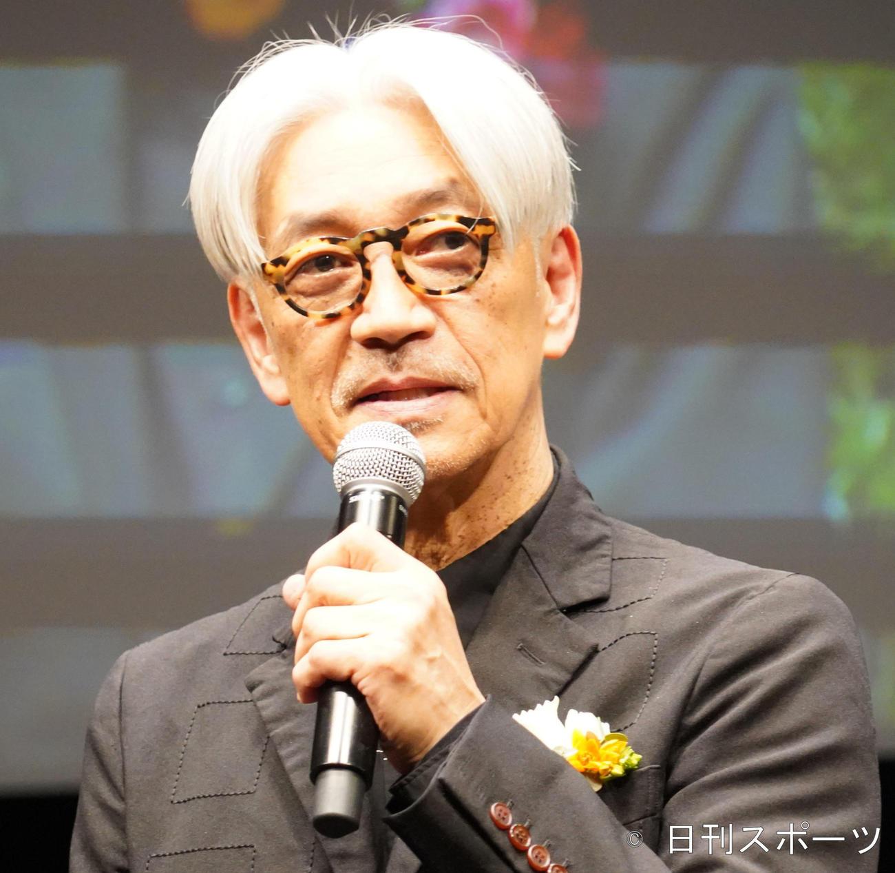 坂本龍一(2020年3月19日撮影)