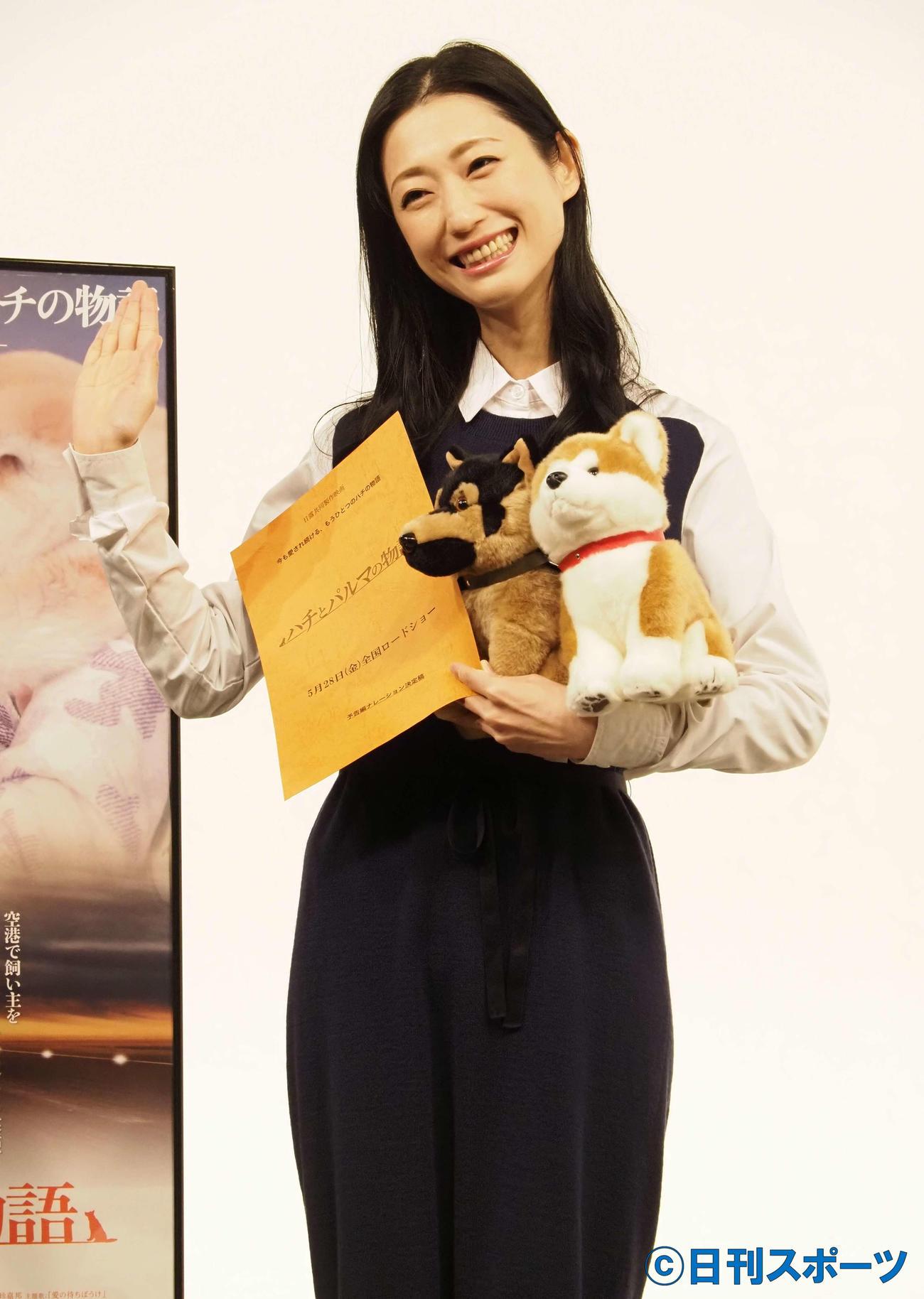 映画「ハチとパルマの物語」公開アフレコイベントに出席した壇蜜(撮影・遠藤尚子)