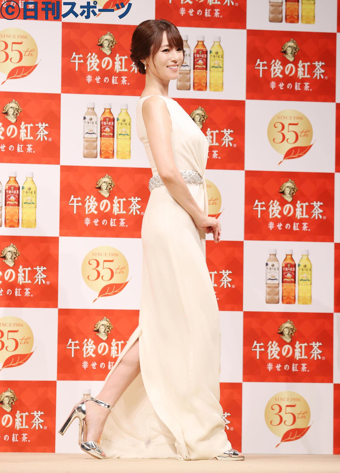 「キリン 午後の紅茶」発売35周年ブランド戦略発表会を行った深田恭子(撮影・垰建太)