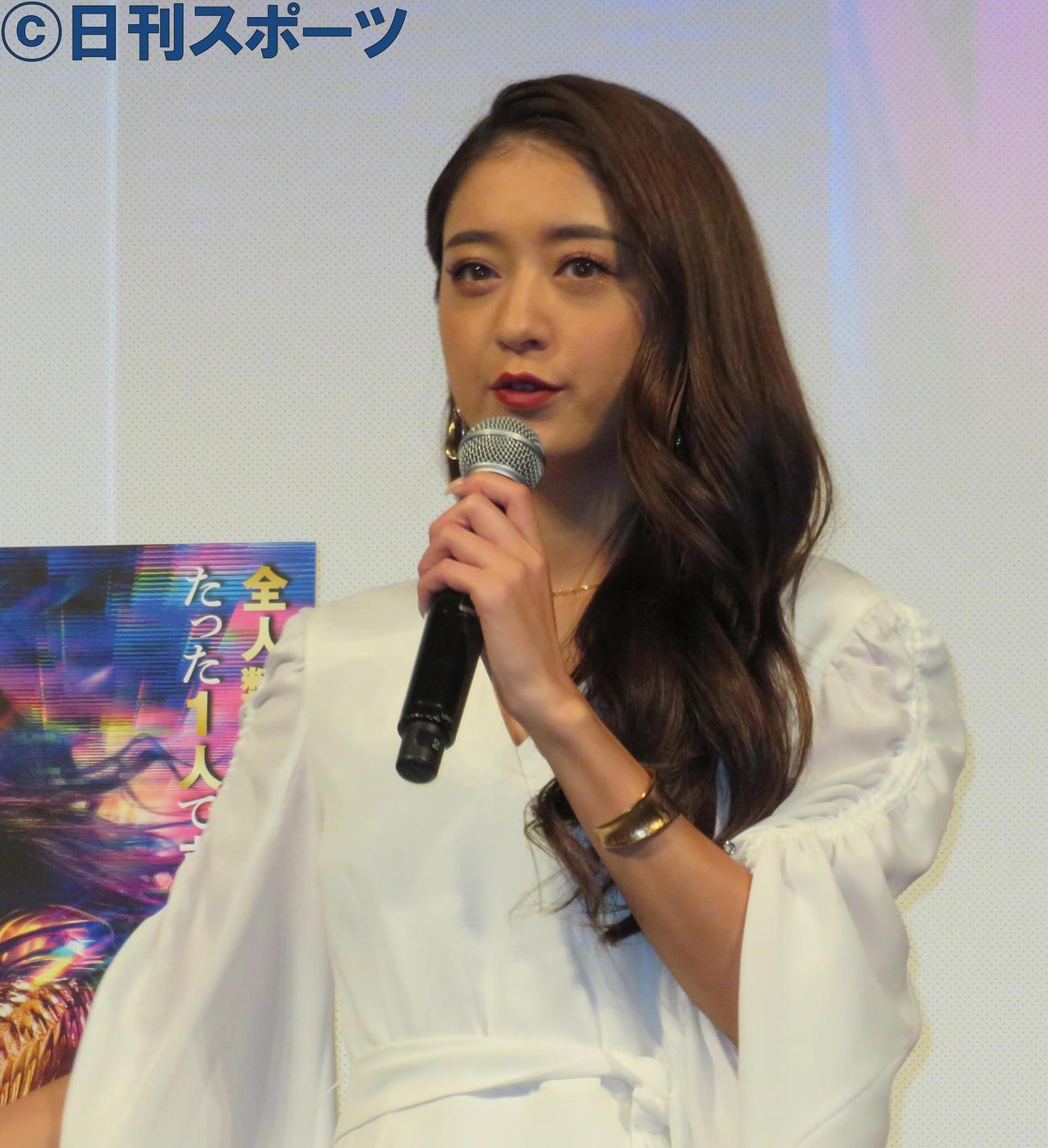 イベントに出席した池田美優(撮影・佐藤勝亮)