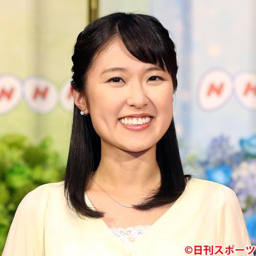 NHK近江友里恵アナウンサー(17年2月16日撮影)