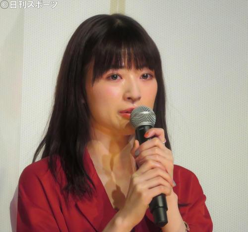映画「NO CALL NO LIFE」(井樫彩監督)の公開記念舞台あいさつに出席した優希美青(撮影・三須佳夏)