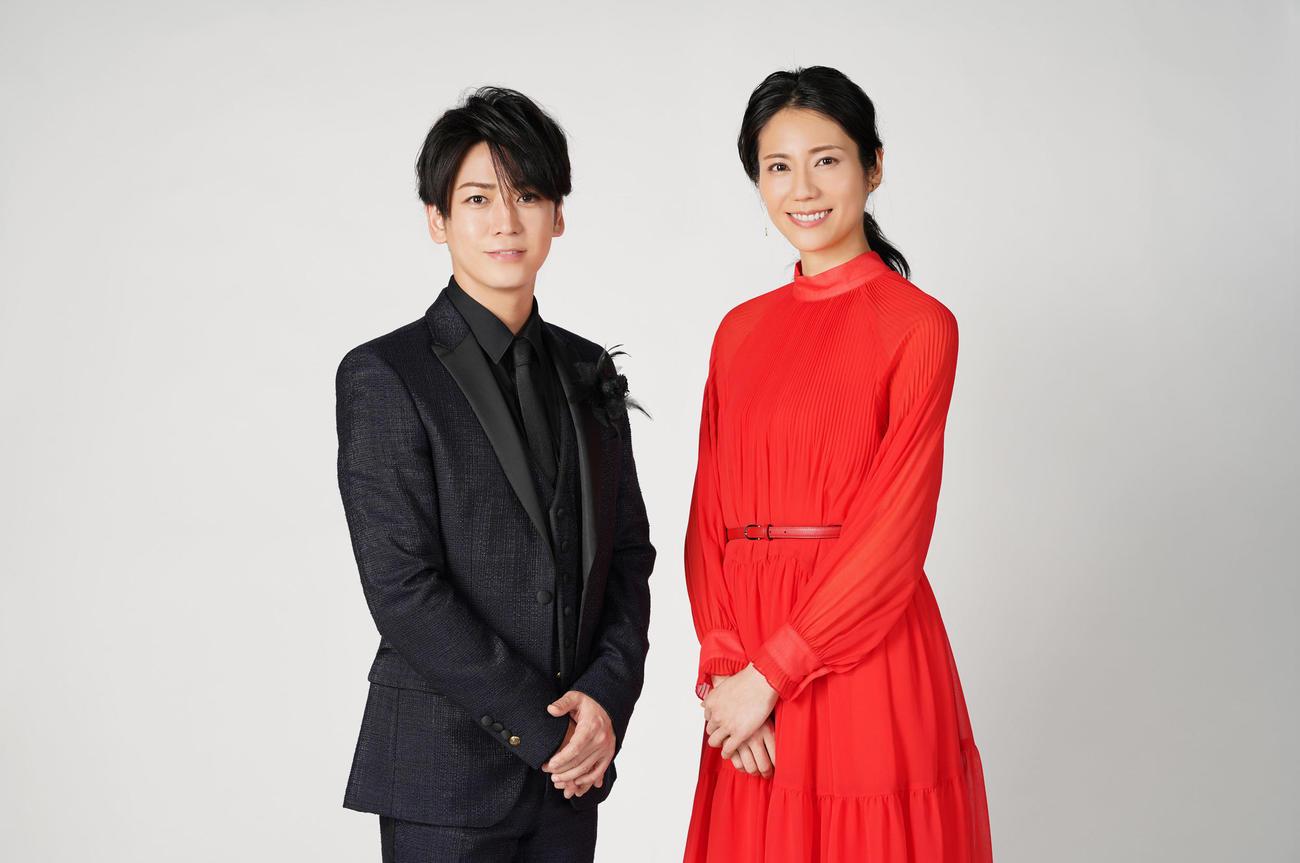 24日放送の日本テレビ系音楽特番「Premium Music」で司会を務めるKAT-TUN亀梨和也と松下奈緒