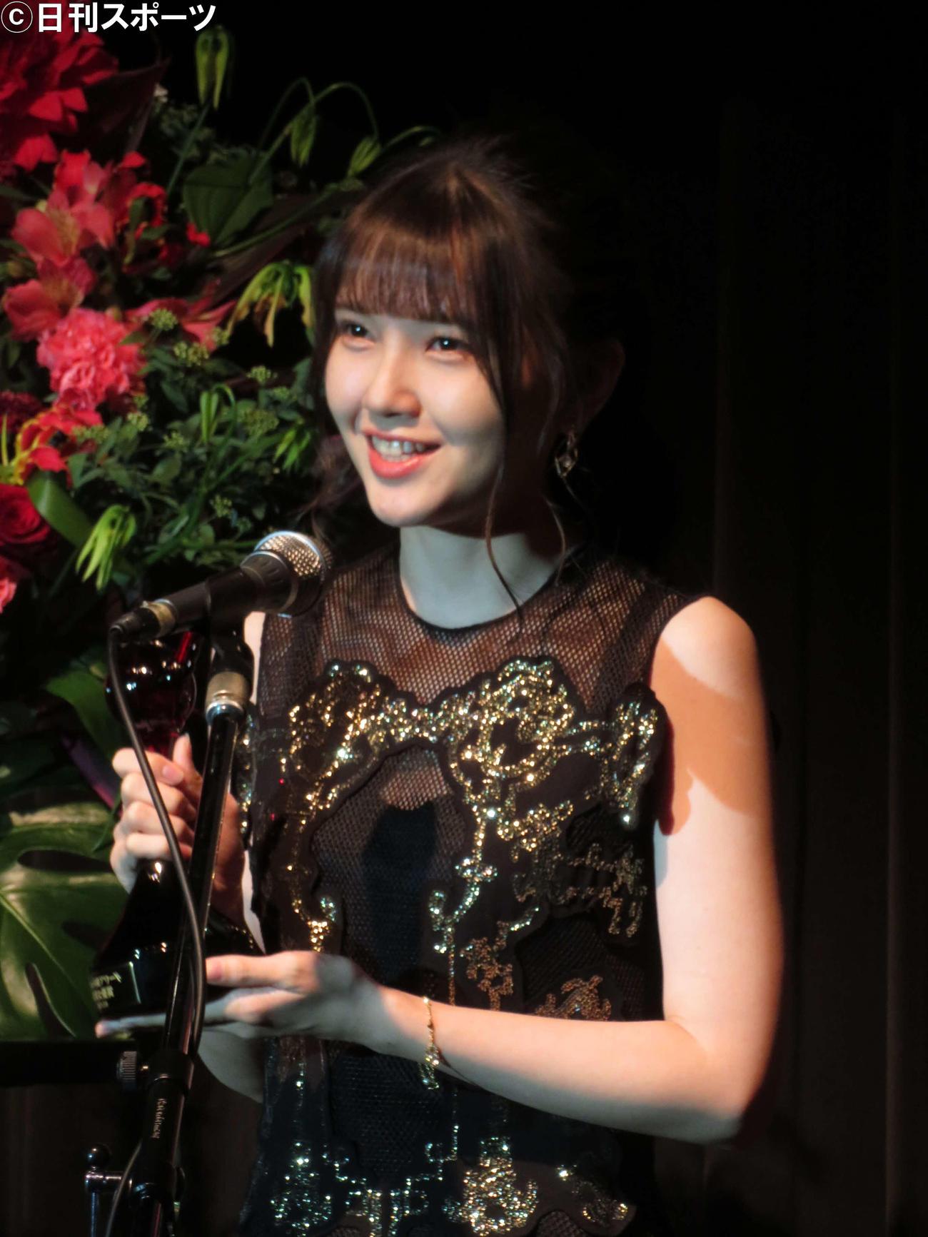 第15回声優アワードで助演女優賞を受賞した鬼頭明里(撮影・村上幸将)