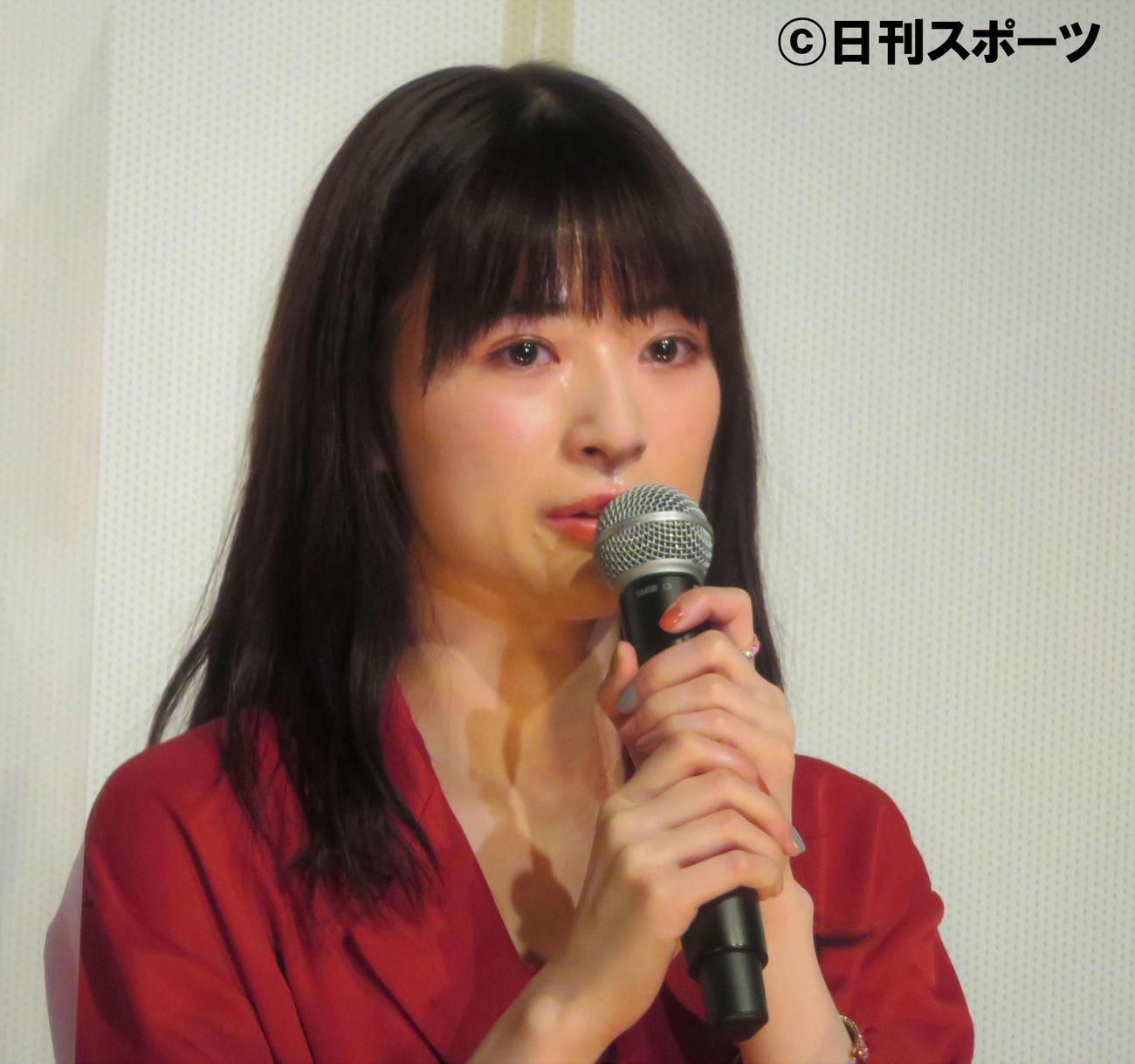 舞台あいさつに出席した優希美青(撮影・三須佳夏)