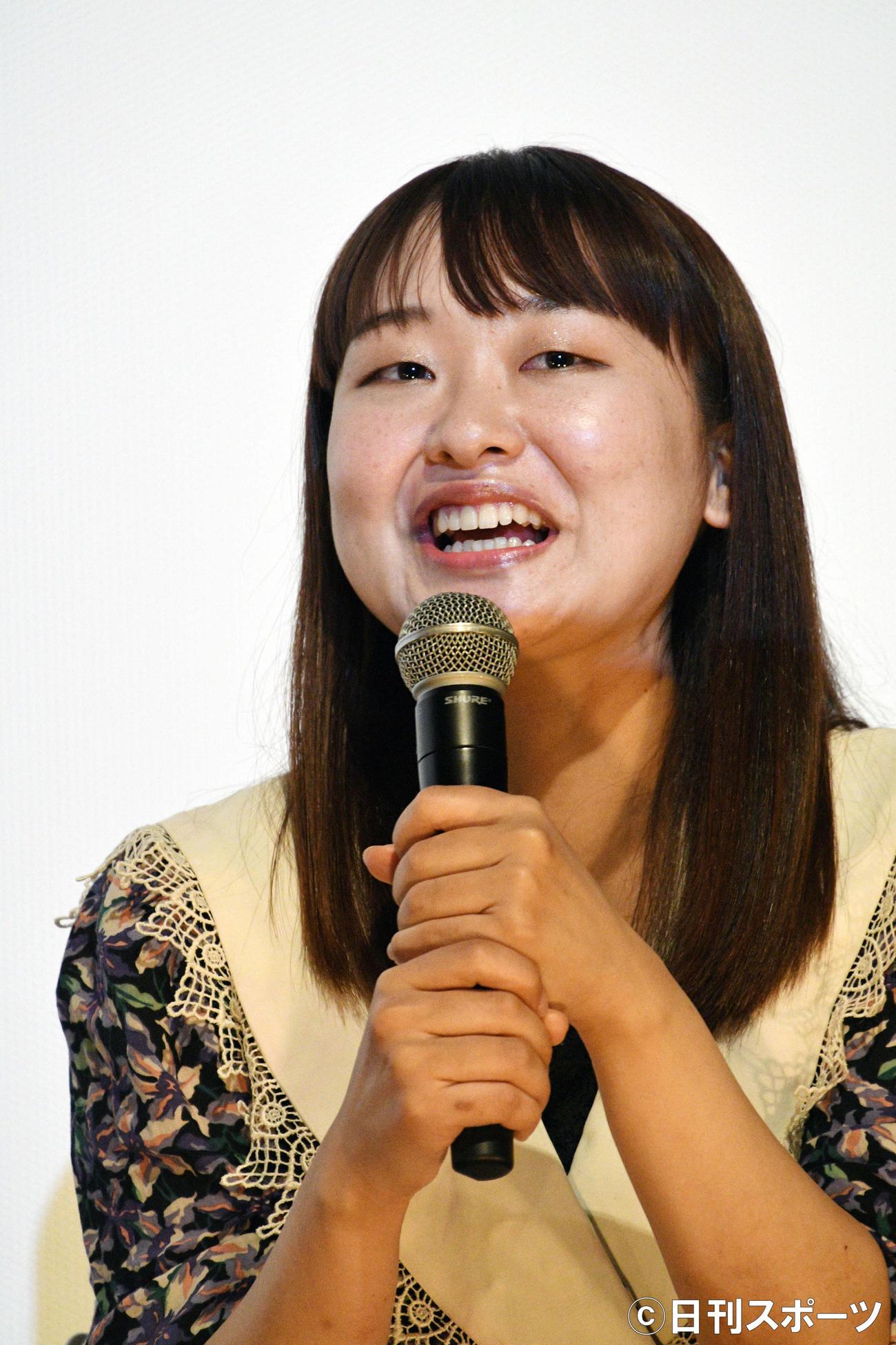 映画「私をくいとめて」公開記念スペシャルトークイベントで話す吉住(2020年12月29日撮影)