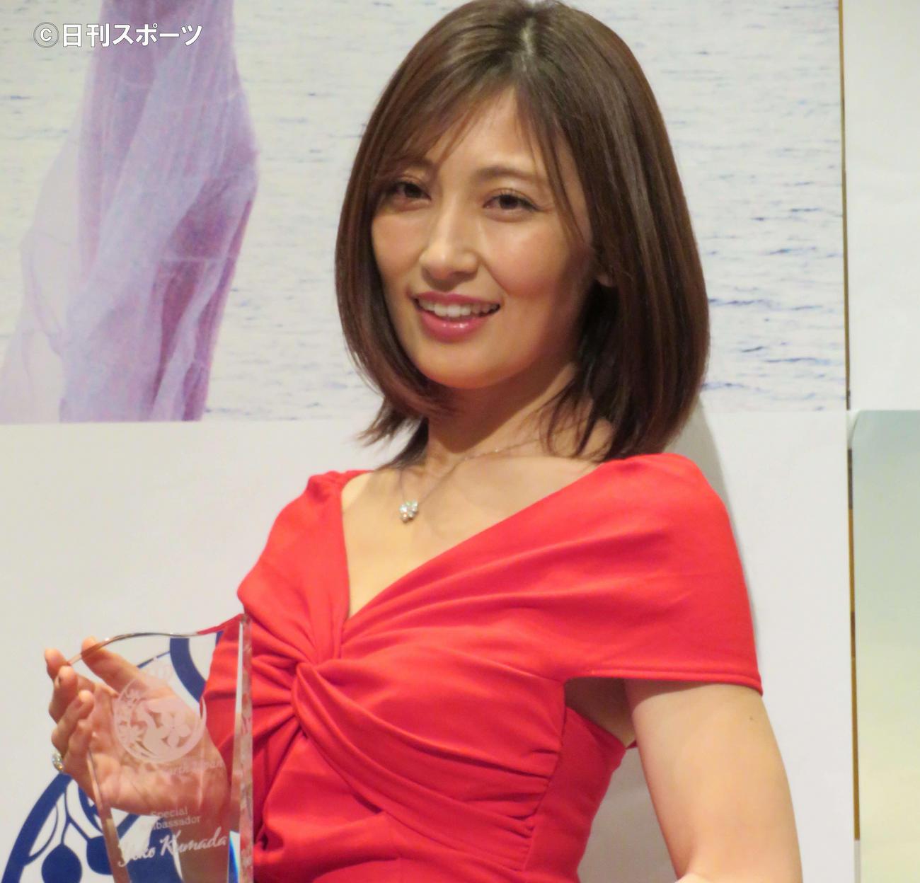 熊田曜子(20年12月撮影)