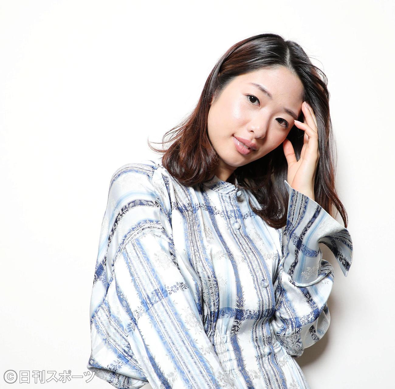 これまでとこれからの女優活動について語った川上奈々美。なにごとにも前向きでストイックな姿勢がとても印象的でした(撮影・河田真司)