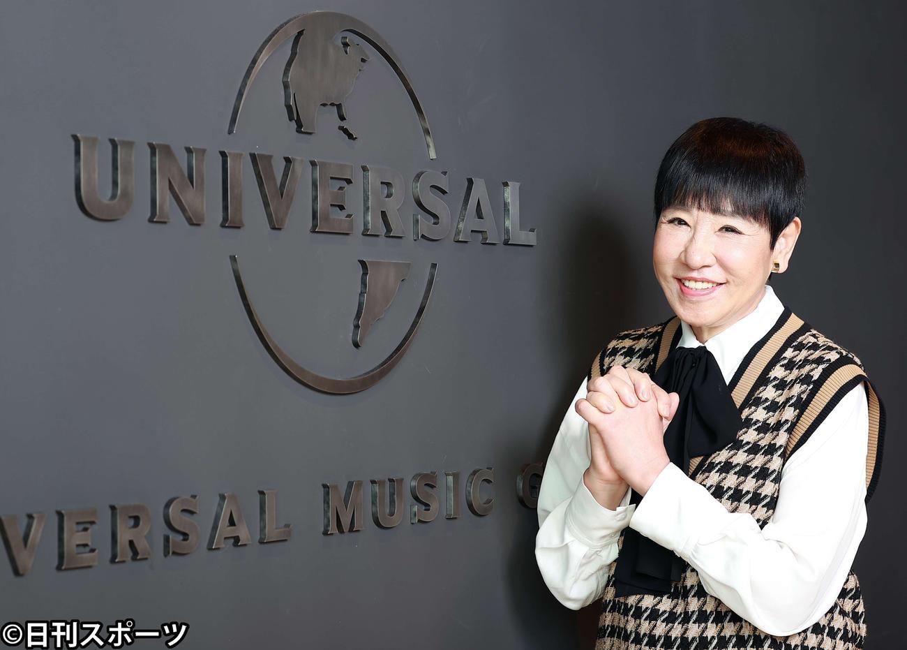 レコード会社移籍後、意気込みを新たに笑顔を見せる和田アキ子(撮影・浅見桂子)