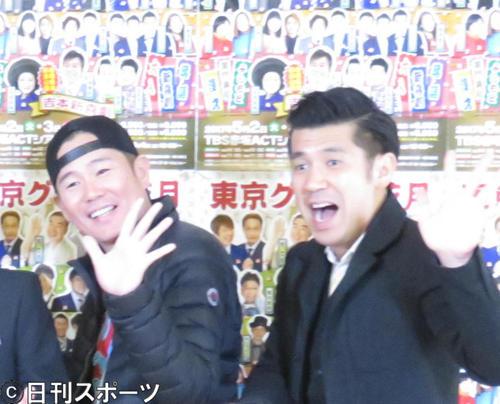 ガレッジセール川田(左)とゴリ(2017年3月23日)