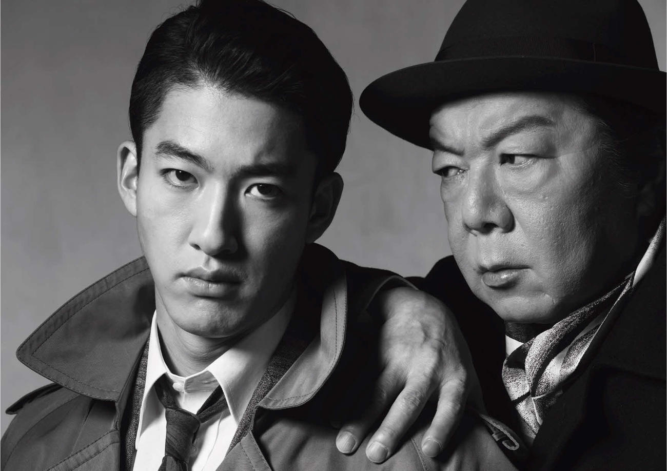ミュージカル「衛生」でダブル主演する尾上右近(左)と古田新太