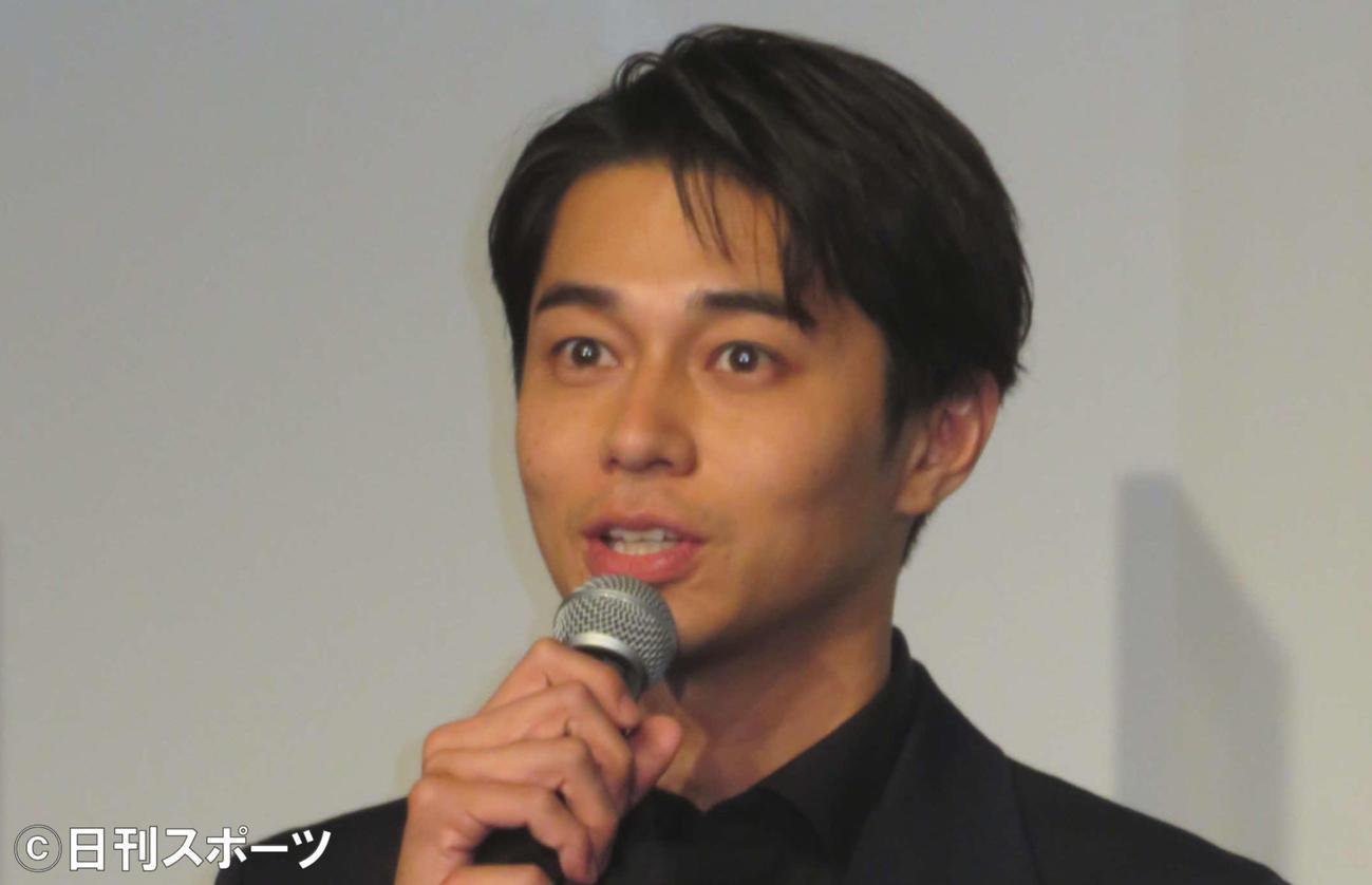 映画「BLUE/ブルー」完成報告会に登壇した東出昌大(2021年3月17日撮影)