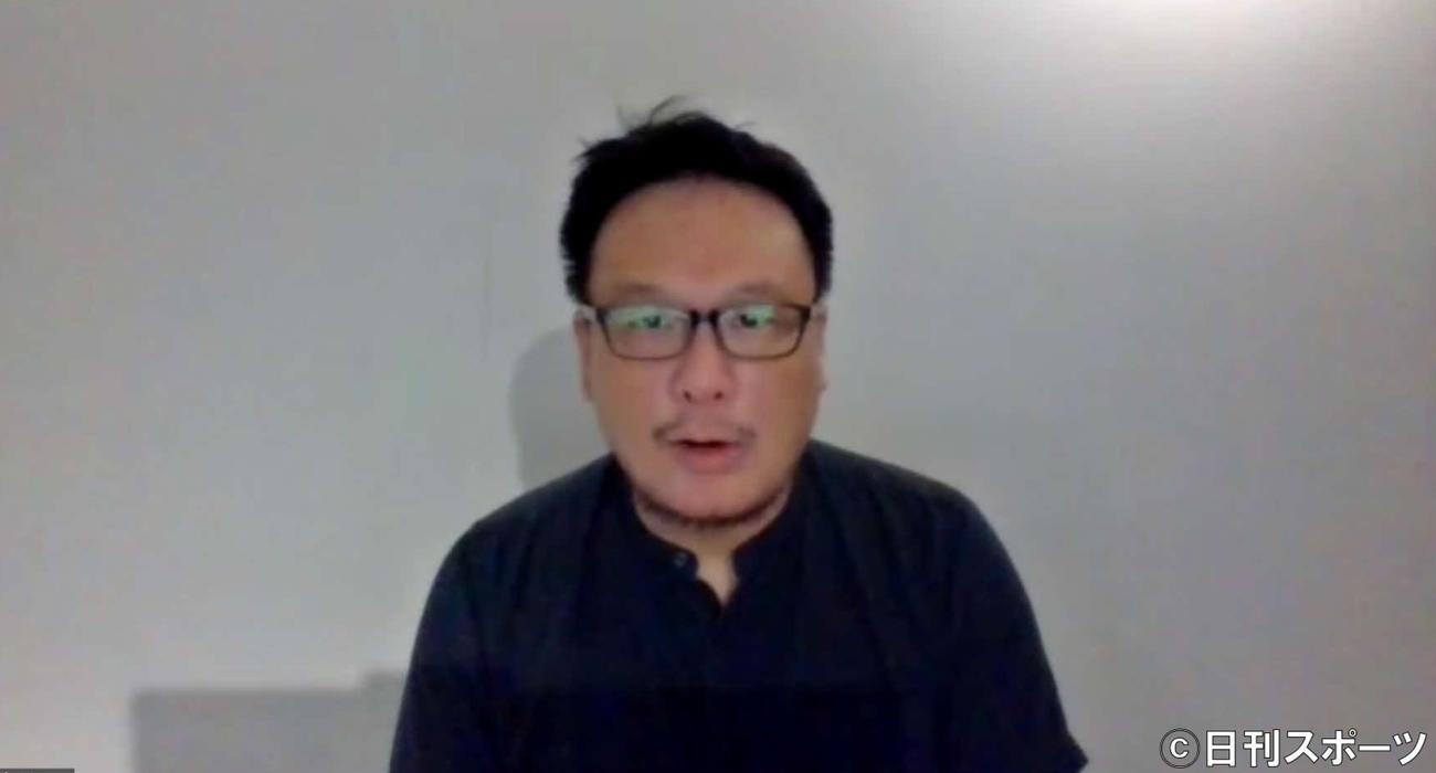 香港・日本合作ドキュメンタリー映画「BlueIsland 憂鬱之島」会見に香港からリモートで参加した製作のピーター・ヤム氏