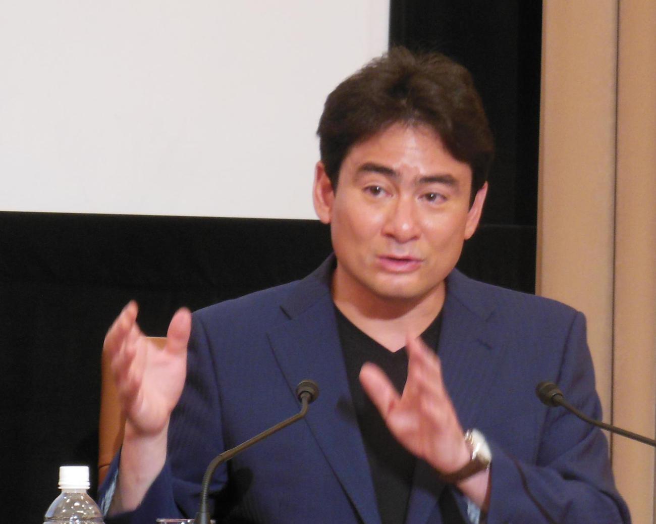 野口健氏(2015年5月22日撮影)