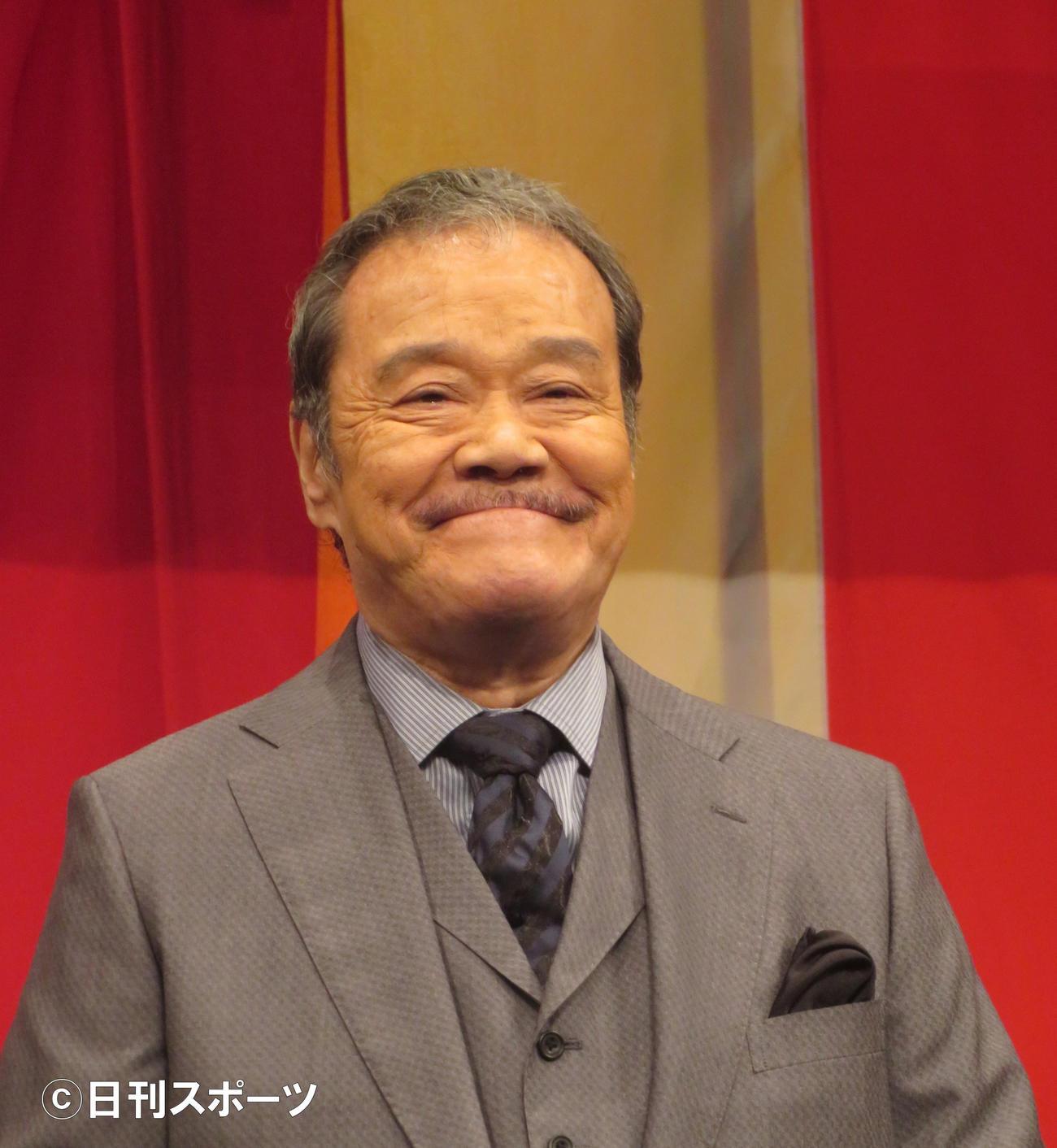 西田敏行(2019年8月26日撮影)