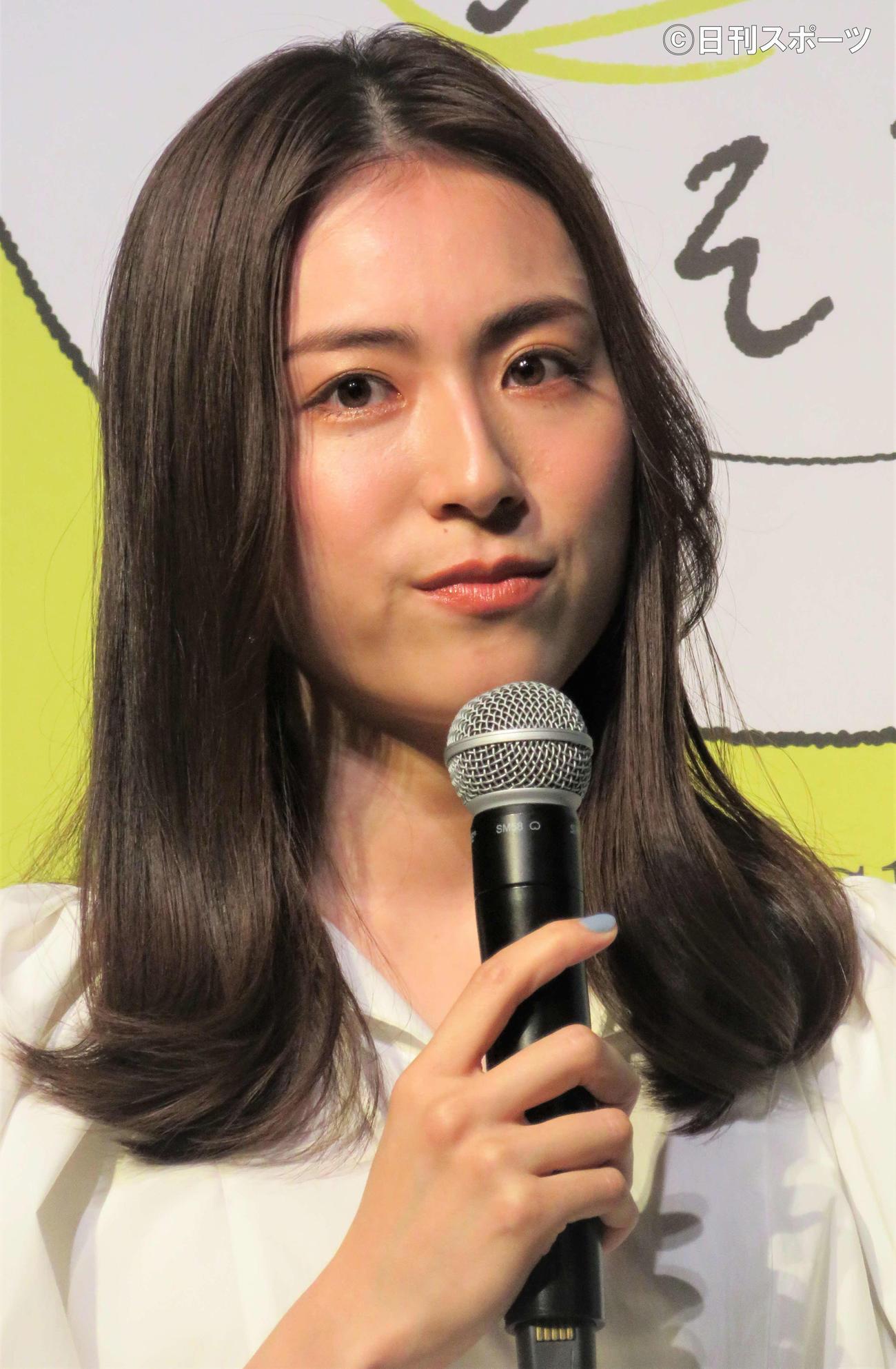 「『今日は家族で話そうよ!With Bistro Do』プロジェクト発表イベントに出席した笹川友里(撮影・三須佳夏)