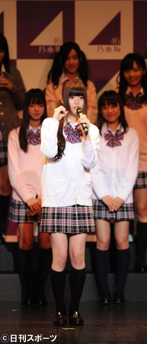 第1回乃木坂46お見立て会で自己紹介する松村沙友理(2011年10月23日撮影)