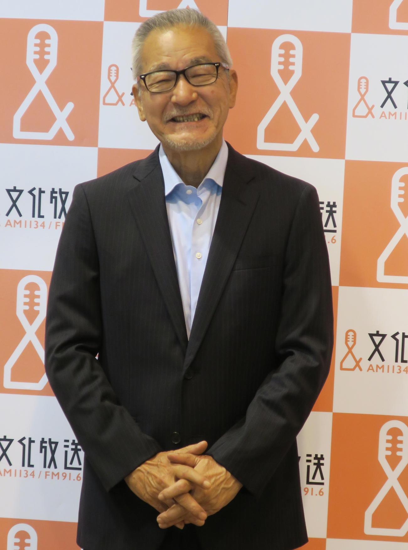 放送15年目に突入する文化放送「大竹まことゴールデンラジオ!」をPRする大竹まこと