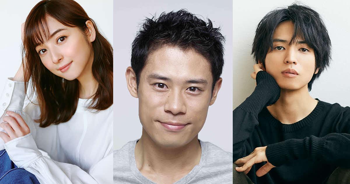 BSプレミアムドラマ「白い濁流」に主演する伊藤淳史(中央)。左は佐々木希、右は桐山漣