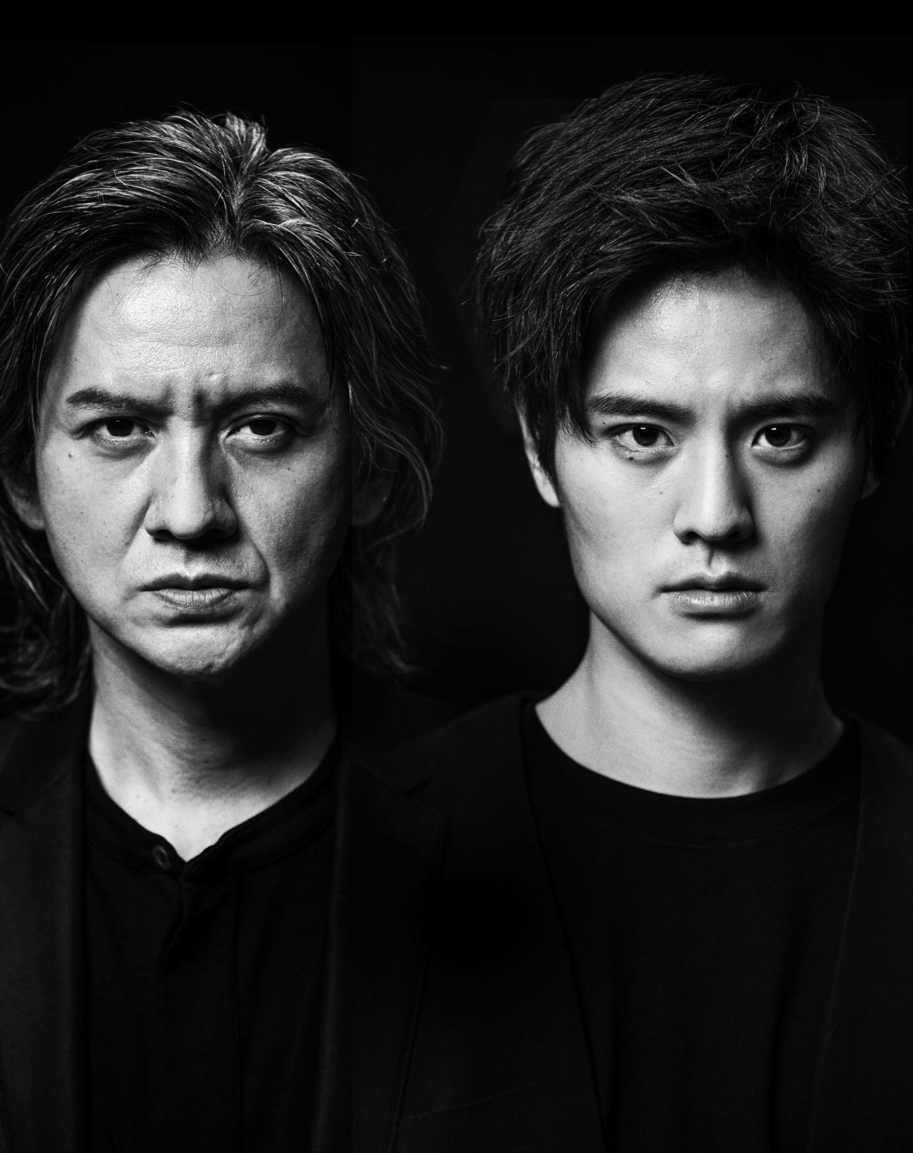 舞台「Le Fils 息子」で初共演する岡本健一(左)と岡本圭人の親子