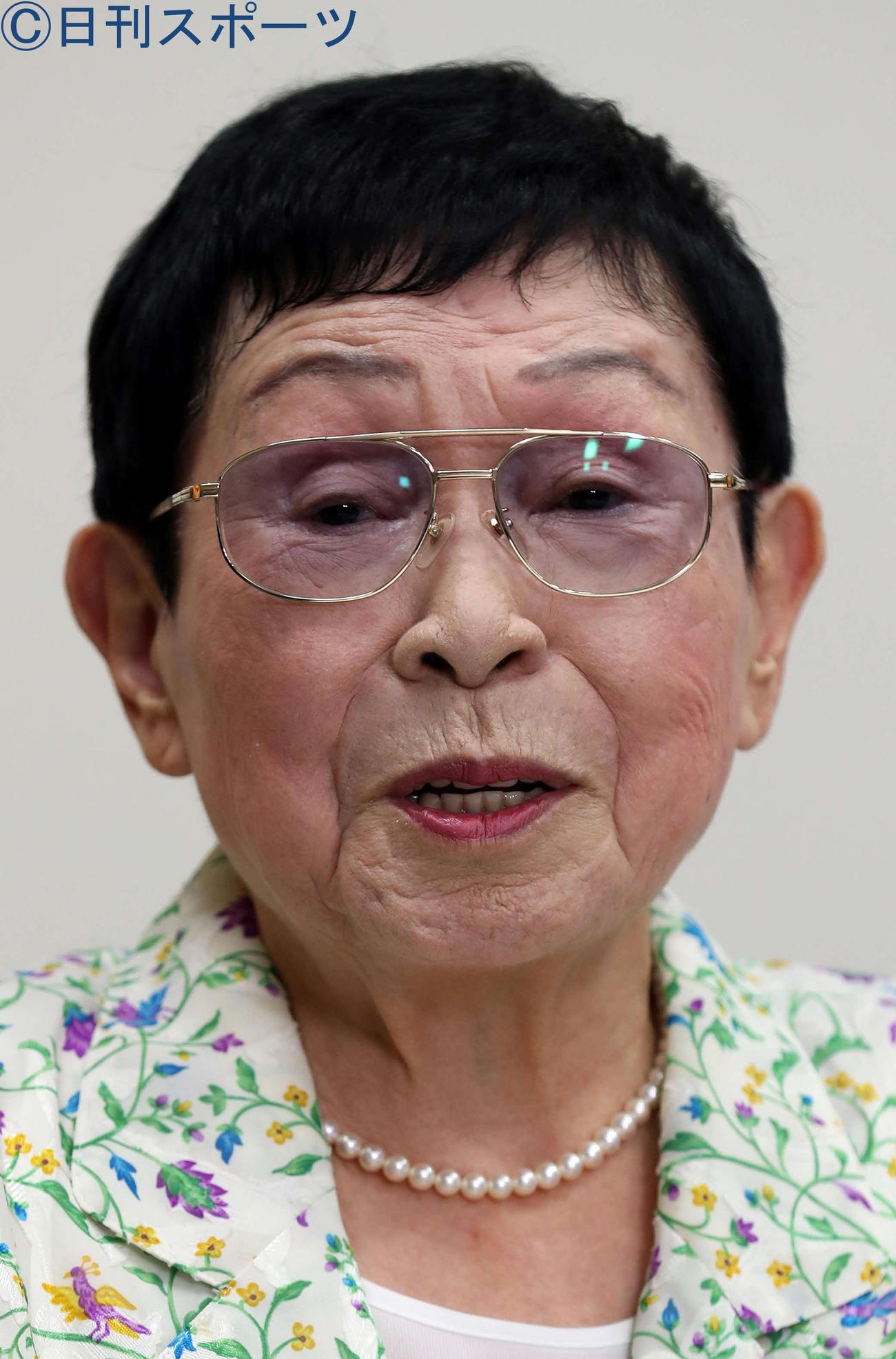 橋田寿賀子さん(2019年9月3日撮影)