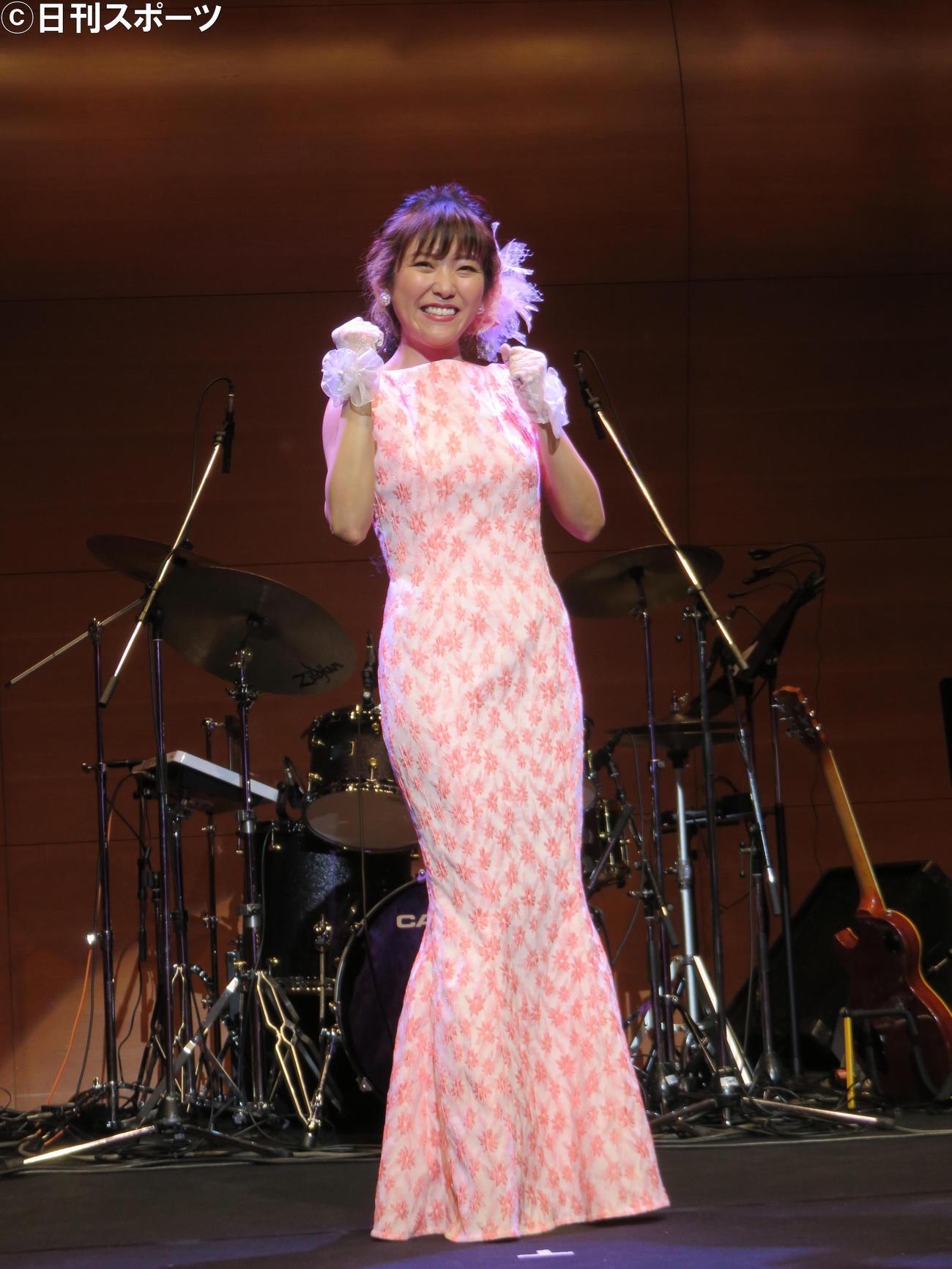 1年3カ月ぶりにコンサートを行った森山愛子