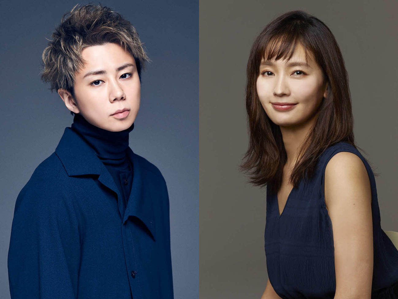7月期スタートのテレビ東京系ドラマ「ただ離婚してないだけ」に出演する北山宏光(左)と中村ゆり