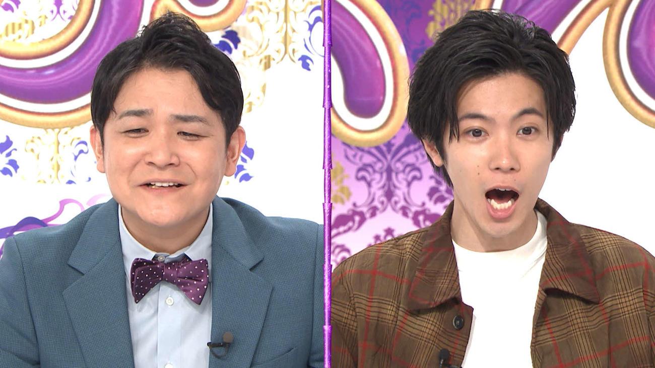 8日放送のテレビ朝日系「ノブナカなんなん?」に出演するノブ(左)と神宮寺勇太