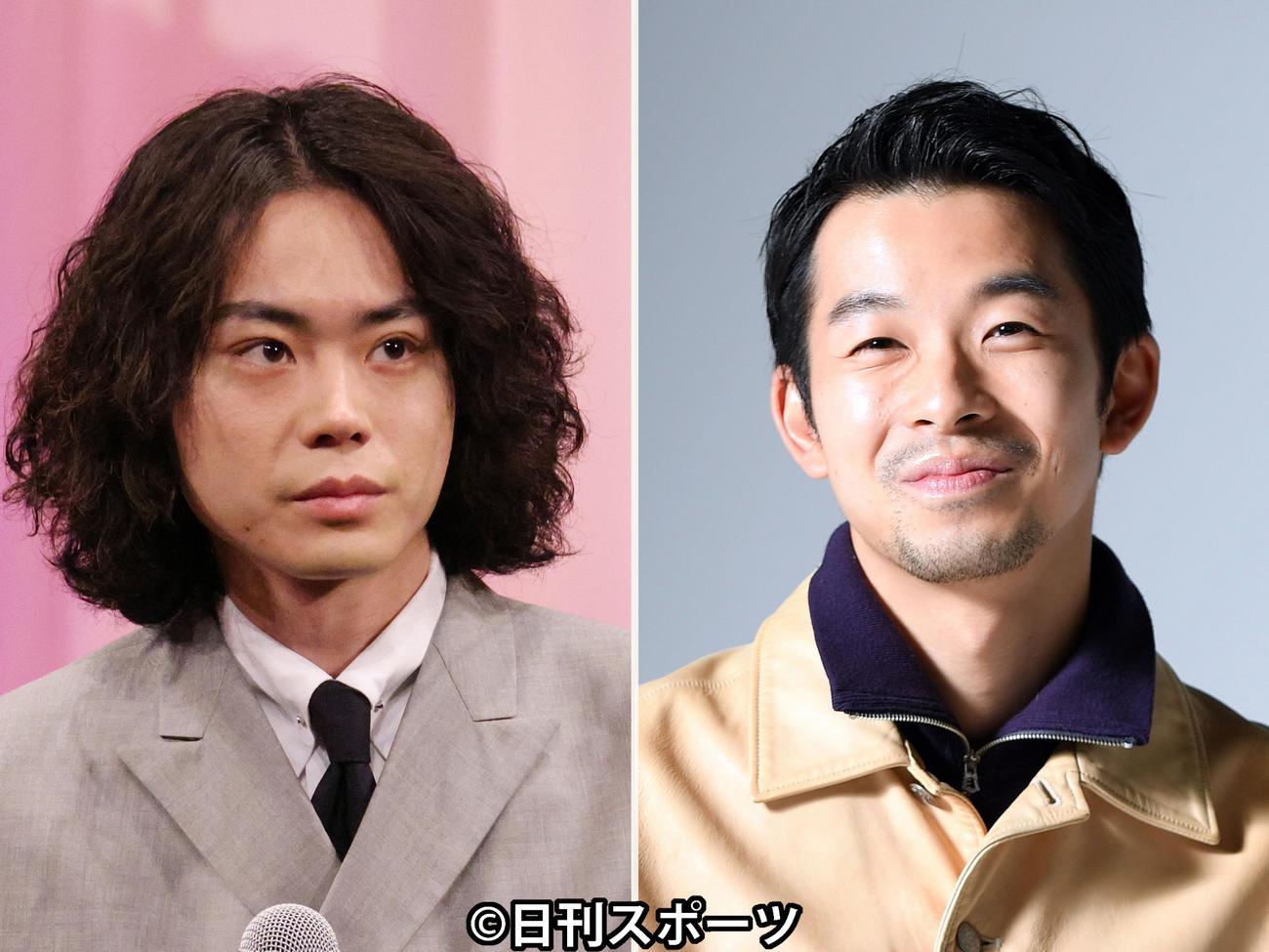 菅田将暉(左)と仲野太賀