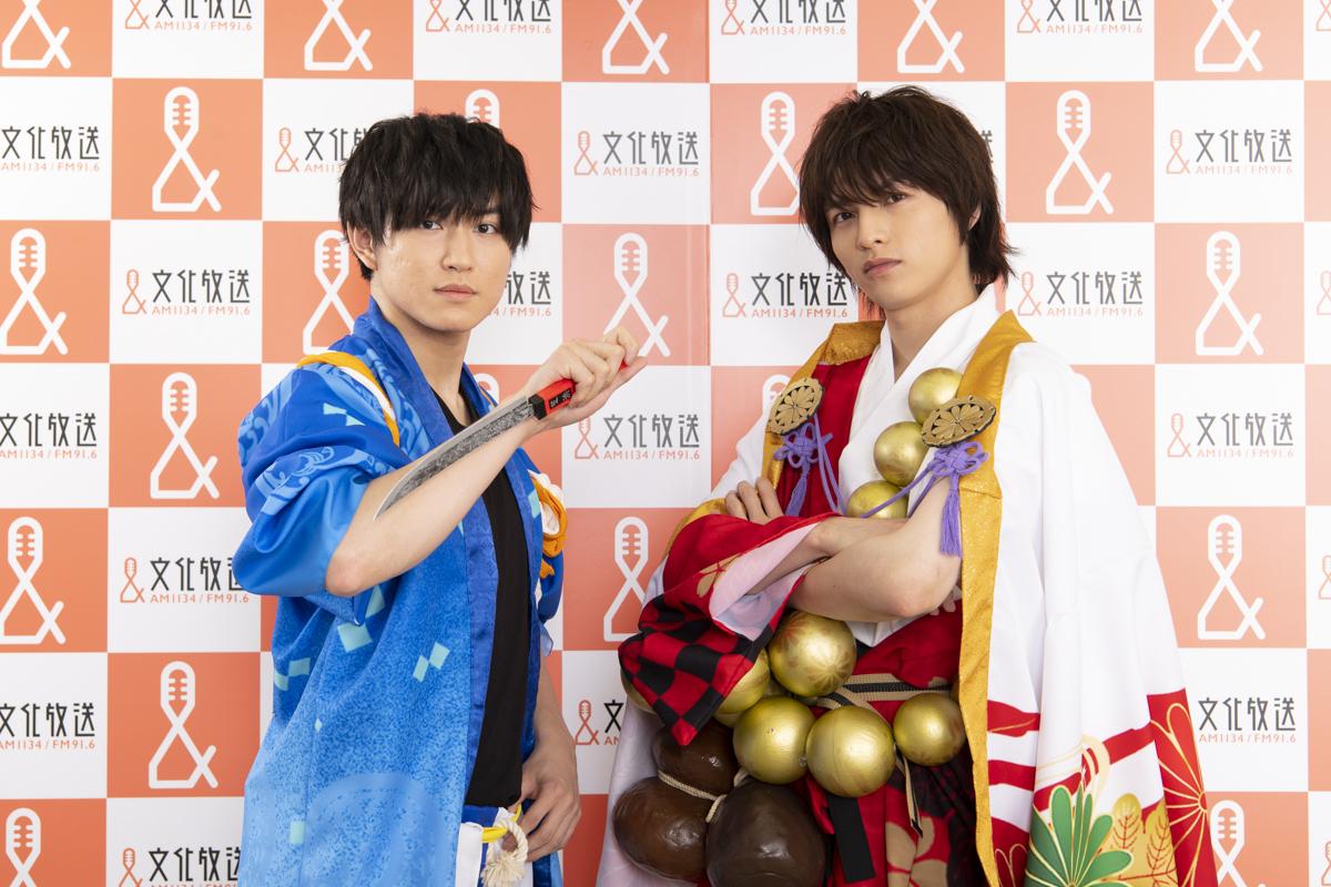 文化放送「矢野・小南 絵物語WA-GEI」のパーソナリティーを務める矢野奨吾(左)と小南光司(右)