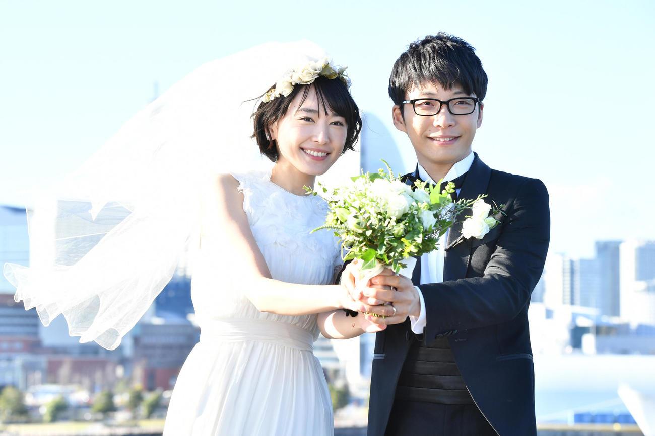 結婚することを発表した新垣結衣(左)と星野源が、夫婦役で出演したTBS系連続ドラマ「逃げるは恥だが役に立つ」の一場面(C)TBS