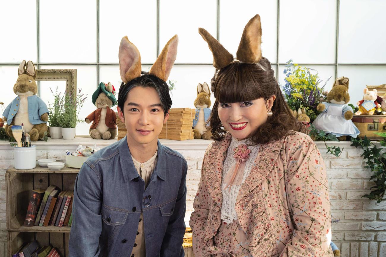 映画「ピーターラビット2/バーナバスの誘惑のCMに出演する黒柳徹子、千葉雄大