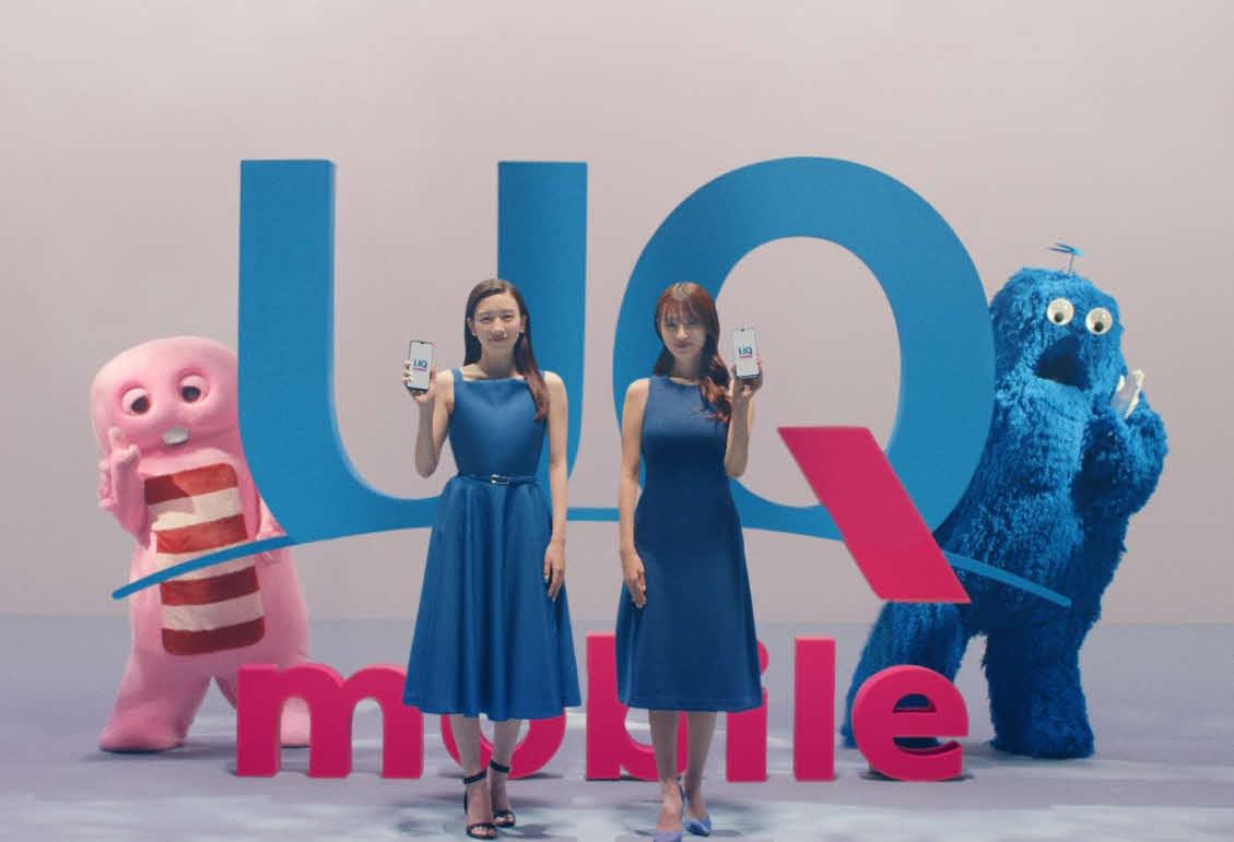 10日から放送される「UQ mobile」新CMに出演する深田恭子(右)と永野芽郁