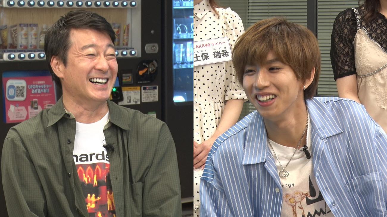 「加藤浩次のちゃっかりバズってます!!」でメインMCを務める加藤浩次(左)とはじめしゃちょー